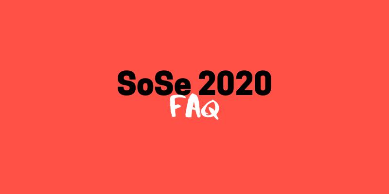FAQ zum Sommersemester // Update vom 24.04.2020