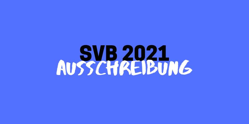 Studierendenvorschlagsbudget (SVB) 2021 // Ausschreibung