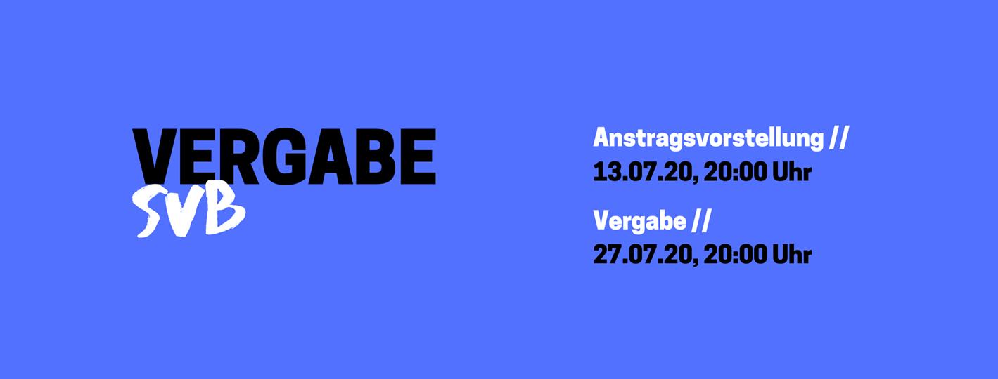 SVB-Mittel 2021 // Vorstellung und Vergabe