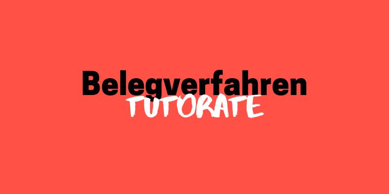 Tutorate // Belegverfahren