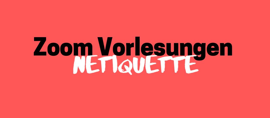 Zoom Netiquette