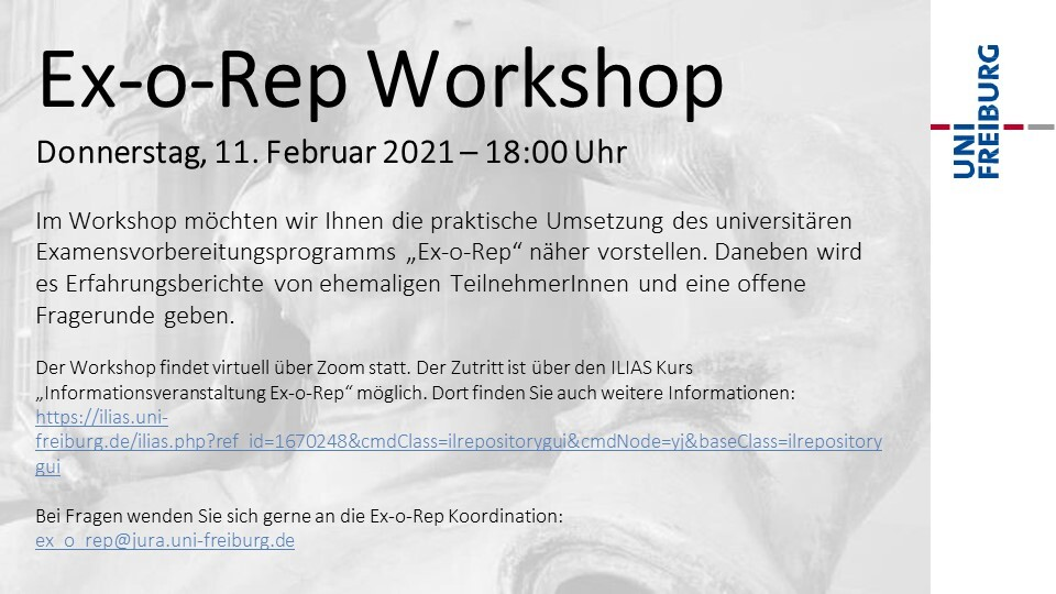 Ex-o-Rep Workshop